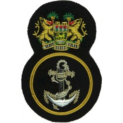 Republic Of Sierra Leone Armed Forces Maritime Wing Petty Officer  Bullion wire-embroidered Naval cap badge or cap tally