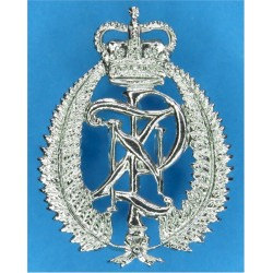 New Zealand Police Cap Badge with Queen Elizabeth's Crown. Chrome-plated Overseas Police, Prison or Corrections insignia