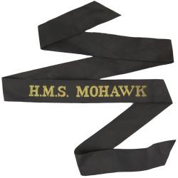 HMS Mohawk (Tribal Class Frigate) Cap-Tally 1962-1981  Woven Naval cap badge or cap tally