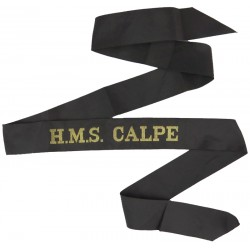 HMS Calpe (Royal Naval Reserve Gibraltar) Cap-Tally 1965-1993  Woven Naval cap badge or cap tally
