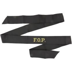 F.O.P. (Flag Officer Portsmouth) Cap-Tally  Woven Naval cap badge or cap tally