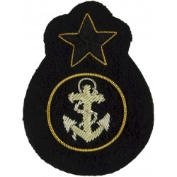 Ghana Navy Petty Officer  Bullion wire-embroidered Naval cap badge or cap tally