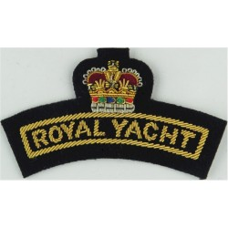 Royal Navy Sub-Lieutenant Rank Slides Facing Pair Bullion wire-embroidered Naval Branch, rank or miscellaneous insignia