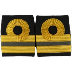 Royal Navy Sub-Lieutenant (Dental) Shoulder Boards Facing Pair with Queen Elizabeth's Crown. Bullion wire-embroidered Naval Bran
