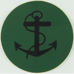 NBC Suit Rank Sticker - Leading Rate Black On Green  Vinyl Naval Branch, rank or miscellaneous insignia