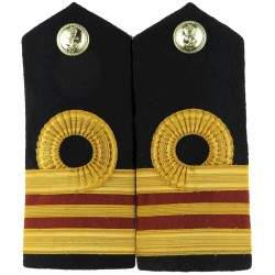 RN Lieutenant Commander (Dental) Shoulder Boards Facing Pair with Queen Elizabeth's Crown. Bullion wire-embroidered Naval Branch