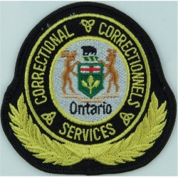 Canada: Ontario Correctional Services Correctionnels Arm Badge  Embroidered Overseas Police, Prison or Corrections insignia