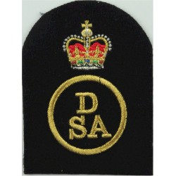 Royal / Navy - Black On Olive Slip-On Epaulette Embroidered Naval Branch, rank or miscellaneous insignia