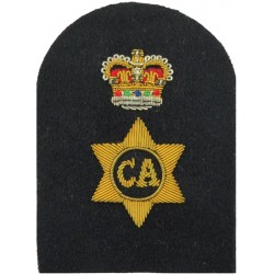 Leading Rate Slip-On Rank Slide - New Type Shiny Gold On Black Lurex Naval Branch, rank or miscellaneous insignia