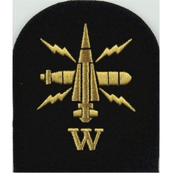 WRNS Stores Accountant - SA In 6-Pointed Star Trade: Blue On Navy Embroidered Naval Branch, rank or miscellaneous insignia