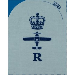 Dental Surgery Assistant (DSA In Circle) + Crown Trade - Gold On Navy Queen's Crown. Bullion wire-embroidered Naval Branch, rank