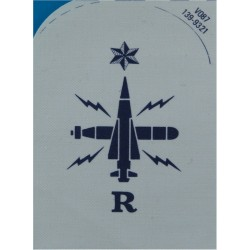 Weapons Analyst (Crossed Rockets) Trade - Red On Navy Embroidered Naval Branch, rank or miscellaneous insignia