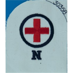 WRNS Motor Transport Driver (MT In Circle) Trade: Blue On Navy Embroidered Naval Branch, rank or miscellaneous insignia