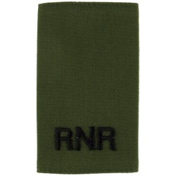 RNR - Black On Olive (Royal Naval Reserve) Slip-On Epaulette  Embroidered Naval Branch, rank or miscellaneous insignia