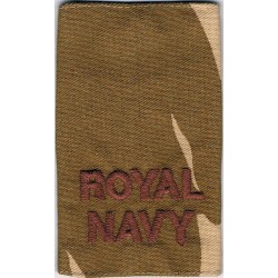 Royal / Navy - Brown On Desert Camouflage Slip-On Epaulette  Embroidered Naval Branch, rank or miscellaneous insignia