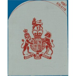 QARNNS Warrant Officer's Rate Badge (Tombstone) Red On White with Queen Elizabeth's Crown. Printed Naval Branch, rank or miscell