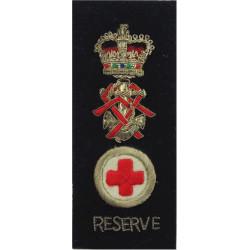 QARNNS Reserve Nursing Sister Tippet (Nursing Cape) 1952-1995 Rank Badge with Queen Elizabeth's Crown. Bullion wire-embroidered