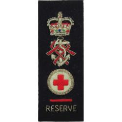 QARNNS Reserve Senior Nursing Sister Tippet 1952-1995 Rank Badge with Queen Elizabeth's Crown. Bullion wire-embroidered Naval Br