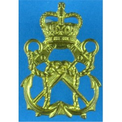 Royal Marines Steering Wheel + 2 Stars: Driver Trade: Gold On Navy Bullion wire-embroidered Marines or Commando insignia