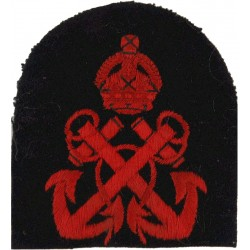 Royal Marines Crossed Clubs + 2 Stars: PTI Trade: Gold On Navy Bullion wire-embroidered Marines or Commando insignia
