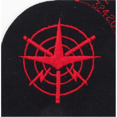 Aircraft Controller (Plane In Web) Trade - Red On Navy  Embroidered Naval Branch, rank or miscellaneous insignia