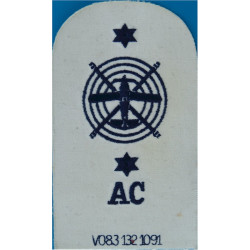 Aircraft Controller Plane & Helicopter + 2 Stars+ AC Trade: Blue On White  Embroidered Naval Branch, rank or miscellaneous insig