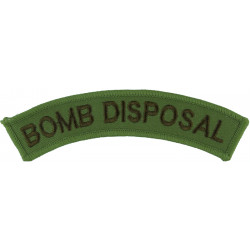 Bomb Disposal (Royal Navy Diving & EOD Qualified) Brown On Sand  Embroidered Naval Branch, rank or miscellaneous insignia