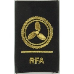 RFA (Royal Fleet Auxiliary) Leading Rate Motorman Gold On Black  Lurex Naval Branch, rank or miscellaneous insignia