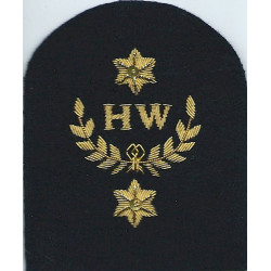 Royal Marines HW In Wreath + 2 Stars: Heavy Weapons Trade: Gold On Navy  Bullion wire-embroidered Marines or Commando insignia