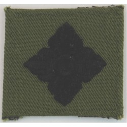 Officer's Rank Star (Royal Marines)  Black On Olive  Embroidered Marines or Commando insignia