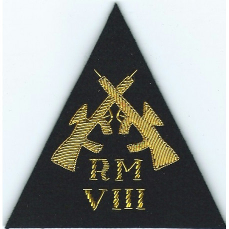 Royal Marines Commandant General's Shooting Badge Gold On Navy  Bullion wire-embroidered Marines or Commando insignia