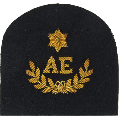 Royal Marines AE In Wreath+1 Star: Assault Engineer Trade: Gold On Navy  Bullion wire-embroidered Marines or Commando insignia