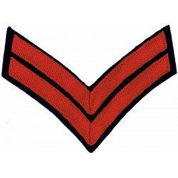 Corporal's Rank Chevrons - Royal Marines Red On Navy - Old  Braid Marines or Commando insignia