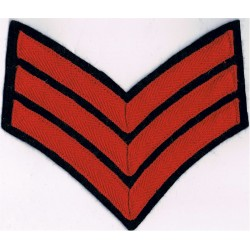 Sergeant's Rank Stripes - Royal Marines Red On Navy - Old  Braid Marines or Commando insignia