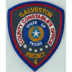 USA: Texas: Galveston County Constable Precinct 4 Arm-Badge - Colour  Embroidered Overseas Police, Prison or Corrections insigni