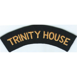 Trinity House (Lighthouse Authority) Shoulder Title Yellow On Navy Blue  Embroidered Coast Guard, Customs & Excise insignia