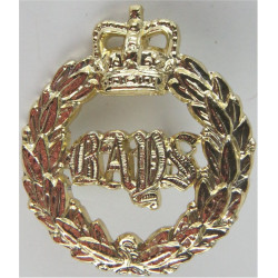1st The Queen's Dragoon Guards Bays with Queen Elizabeth's Crown. Anodised Staybrite collar badge