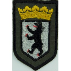 German Prisons - Berlin - Arm Badge - Shield Small On Grey-Green  Embroidered Overseas Police, Prison or Corrections insignia