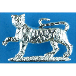 Gordon Highlanders FL - Tiger  Anodised Staybrite collar badge