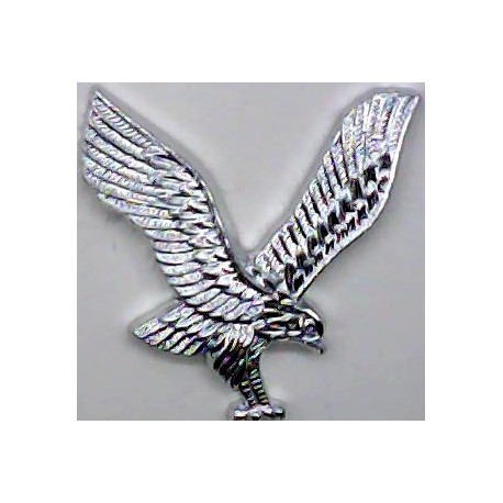 Army Air Corps - 2nd Pattern - Post-1961 FR - Eagle Only  Anodised Staybrite collar badge