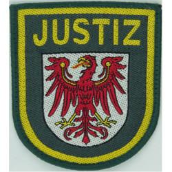 German Prisons - Brandenburg Justiz Arm Badge - Shield  Woven Overseas Police, Prison or Corrections insignia
