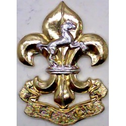 King's Regiment (Manchester & Liverpool) FR - 1970-1999  Anodised Staybrite collar badge