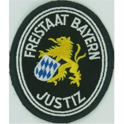 German Prisons - Freistaat Bayern Justiz Arm Badge - Merrowed  Embroidered Overseas Police, Prison or Corrections insignia