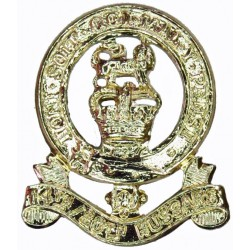 14th/20th King's Hussars FR with Queen Elizabeth's Crown. Anodised Staybrite collar badge