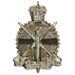 Army Apprentices School  with Queen Elizabeth's Crown. Anodised Staybrite collar badge