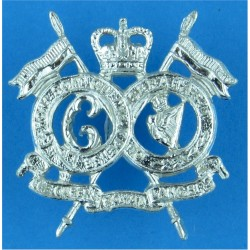 16th/5th The Queen's Royal Lancers Also Worn By QRL with Queen Elizabeth's Crown. Anodised Staybrite collar badge