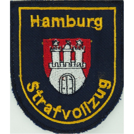 German Prisons - Hamburg Strafvollzug Arm Badge - Shield  Embroidered Overseas Police, Prison or Corrections insignia