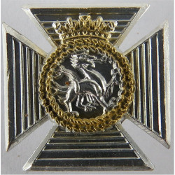 Gordon Highlanders FR - Tiger  Anodised Staybrite collar badge