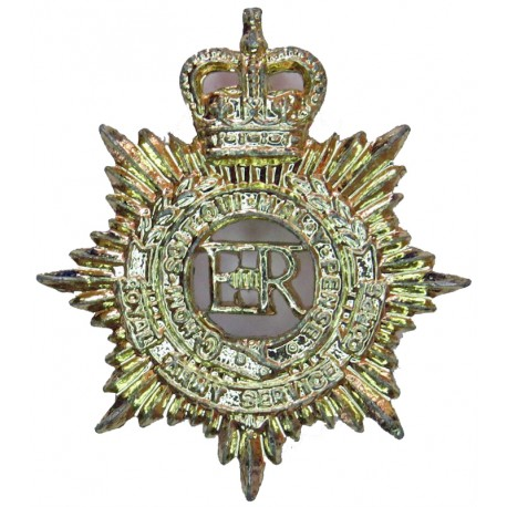 Royal Army Service Corps  with Queen Elizabeth's Crown. Anodised Staybrite collar badge