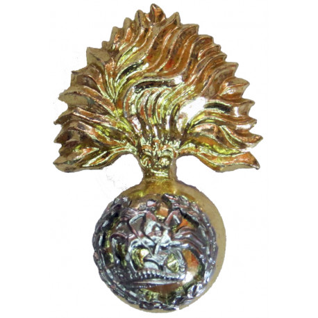 Royal Regiment of Fusiliers FR with Queen Elizabeth's Crown. Anodised Staybrite collar badge